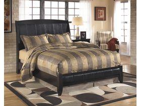 """Кровать двуспальная в классическом стиле c элементами из кожи """"Harmony"""""""