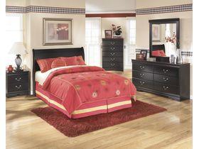 """Кровать двуспальная в черной цветовой гамме """"Huey Vineyard"""""""