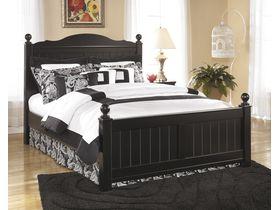 """Кровать двуспальная в темной цветовой гамме """"Jaidyn"""""""
