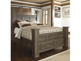 """Кровать двуспальная с ящиками из шпона дуба """"Juararo"""""""