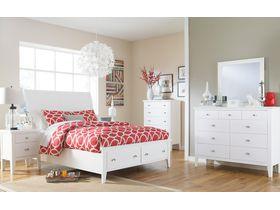 """Спальня из древесины лиственных пород  в белом цвете """"Langlor"""""""