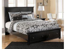 """Кровать двуспальная c ящиками в черном  цвете """"Maribel"""""""