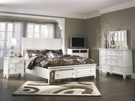 """Спальня из шпона лиственных пород в белой цветовой гамме """"Prentice"""""""