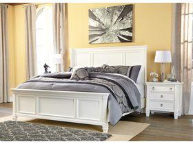 """Кровать в белой цветовой гамме """"Prentice"""" из твердых лиственных пород"""