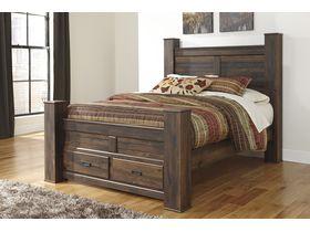 """Кровать двуспальная  из шпона дуба с ящиками """"Quinden"""""""