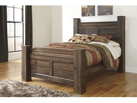 """Кровать двуспальная из шпона дуба в теплых тонах """"Quinden"""""""