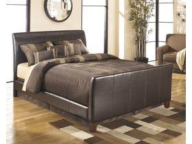 """Кровать двуспальная в темной цветовой гамме c элементами из кожи """"Stanwick"""""""