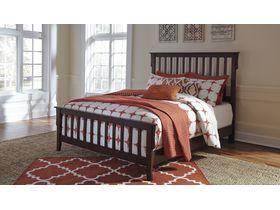 """Кровать двуспальная из шпона дуба  в строгом стиле  """"Strenton"""""""
