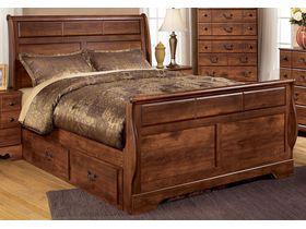 """Кровать двуспальная с ящиками из шпона вишни """"Timberline"""""""
