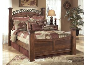 """Кровать двуспальная с ножками из шпона вишни """"Timberline"""""""