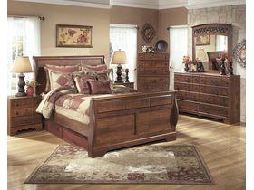 """Кровать двуспальная в классическом стиле из шпона вишни """"Timberline"""""""