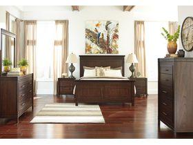 """Спальня из древесины лиственных пород в строгом стиле """"Timbol"""""""