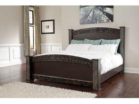"""Кровать двуспальная из шпона дуба в классическом дизайне """"Vachel"""""""