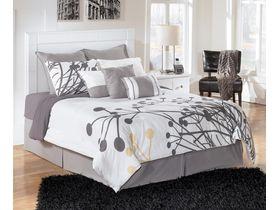 """Кровать двуспальная в белом цвете """"Weeki"""""""