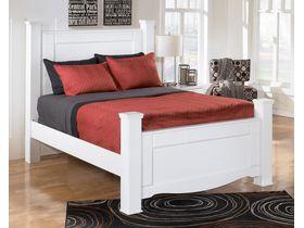 """Кровать двуспальная """"Weeki"""" с декоративными ножками  в белом цвете"""