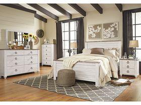 """Спальня в белых тонах  из древесины лиственных пород """"Willowton"""""""