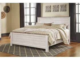 """Кровать двуспальная в фактурной обработке """"Willowton"""""""