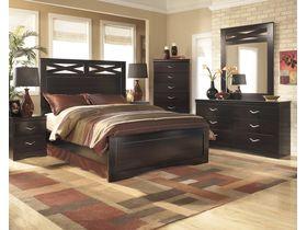 """Кровать двуспальная из шпона красного дерева """"X-cess"""""""