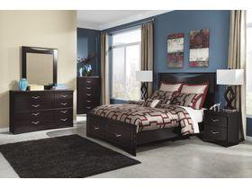"""Кровать двуспальная с ящиками из шпона красного дерева """"Zanbury"""""""