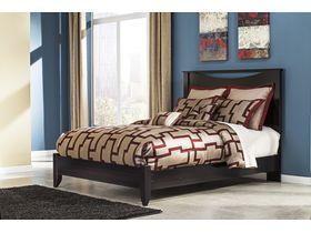 """Кровать в темных тонах из шпона красного дерева """"Zanbury"""""""