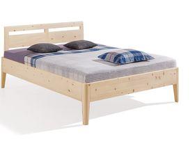 """Кровать с изголовьем из массива сосны """"Kalmera"""""""