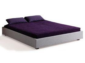 """Мягкая кровать без изголовья из массива бука """"Aura"""""""