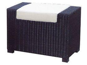Плетёный пуф с подушкой для сада Garda