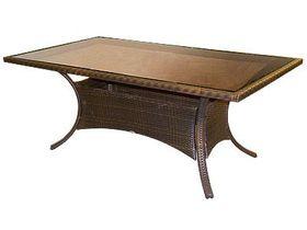 Большой плетёный стол на дачу Garda