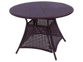 Плетёный обеденный стол для сада Garda