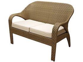 Двухместный плетёный диван для сада Garda