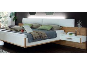 Кровать с мягким изголовьем и двумя модулями