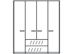 Шкаф 4 двери и 2 ящика