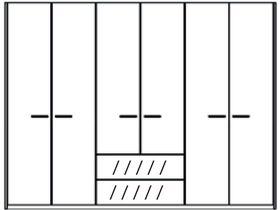 Шкаф 6 дверей, 2 ящика