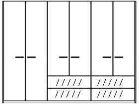 Шкаф 6 дверей, 4 ящика