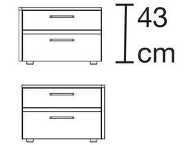Тумба с двумя ящиками