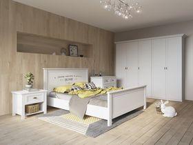 """Коллекция мебели для спальни в белой цветовой гамме """"Терни"""""""