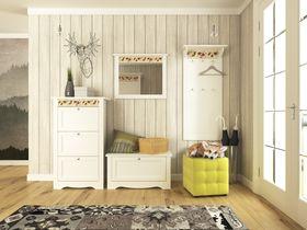 """Набор мебели в прихожую в белой цветовой гамме """"Эльза"""""""