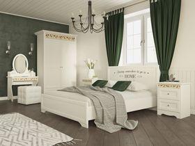 """Коллекция мебели для спальни в белой цветовой гамме """"Эльза"""""""