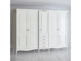 """Шкаф 5 дверей 4 ящика 308см из коллекции """"Romantic"""""""