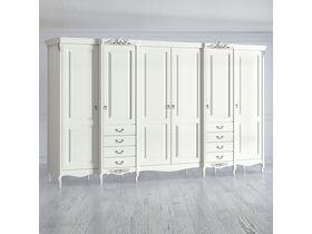 """Шкаф 6 дверей 8 ящиков 372 см из коллекции """"Romantic"""""""