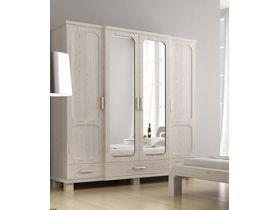 """Белый шкаф для одежды 4-дверный """"Селена 2"""""""