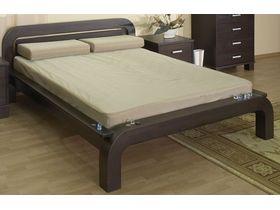 """Современная двуспальная кровать из массива """"Селена 2"""""""
