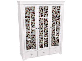 """Шкаф 3х дверный белый со стеклянными дверями из коллекции """"Бейли"""""""