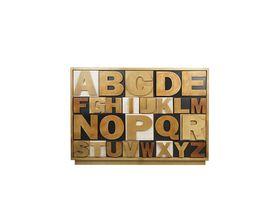Комод в спальню с ящиками Alphabeto Birch
