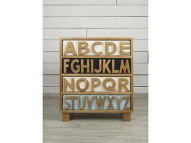 Комод с четырьмя ящиками Alphabeto Birch