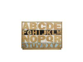 Комод для белья в стиле поп-арт Alphabeto Birch