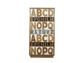 Поп-арт комод для спальни Alphabeto Birch