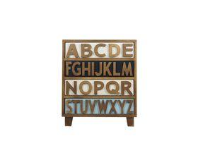 Комод для белья с ящиками Alphabeto Birch