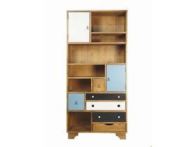 Вертикальный стеллаж с полочками и ящиками Aquarelle Birch