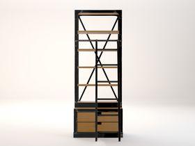 Стеллаж с лестницей и двумя ящиками Industrial